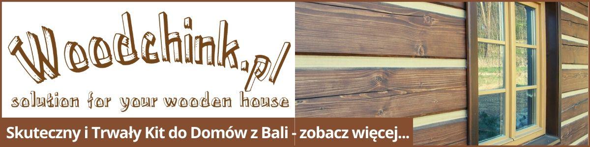 Woodchink uszczelniacz kit do drewna domów z bali baner