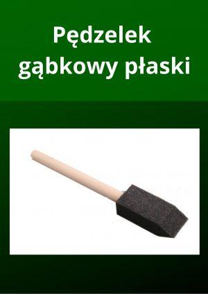 Pędzel gąbkowy płaski