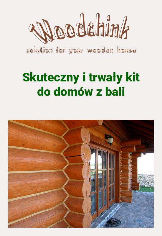 woodchink uszczelniacz do domów z bali - kit do domów z bali - baleidetale.pl